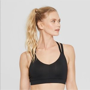 NEW Champion C9 Black Padded Strappy Sports Bra S